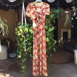Vintage Long Fan Dress
